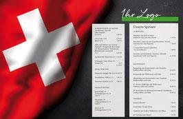 Tischset Schweizer Fahne