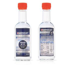 Nordseeluftwasser Basisch - Glasflasche 250 ml - Karton mit 15 Stück