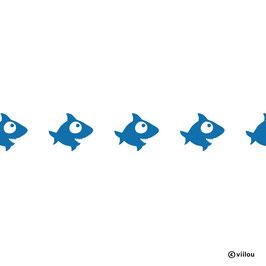 Wandsticker Bordüre Haifischchen