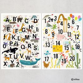 2 Poster: ABC + ZAHLEN
