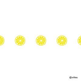 Wandsticker Zitronen Bordüre