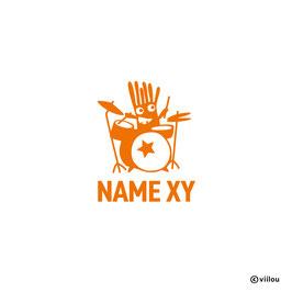 Sticker Name mit Monster