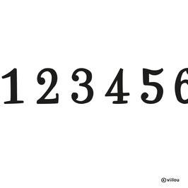 Patches Zahlen C: Bügelbild Ziffer nach Wunsch