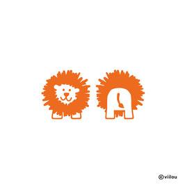 Patches: Bügelbild Löwe x2