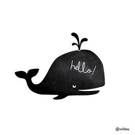 Kreidetafel Wandsticker Wal
