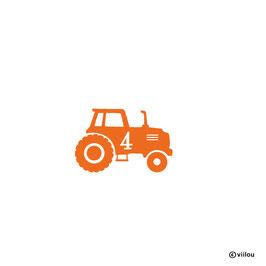 Geburtstag Patches Zahlen: Bügelbild Traktor mit Zahl