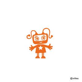 Patches: Bügelbild Roboter Rosi