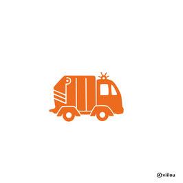 Patches: Bügelbild Müllauto