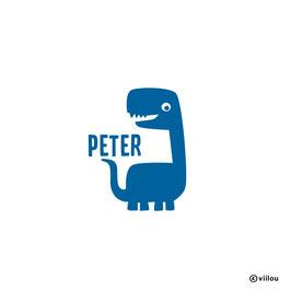 Türsticker Namen mit Dino