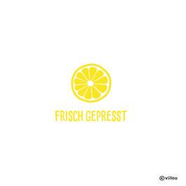 Patches Geburt: Bügelbild Zitrone