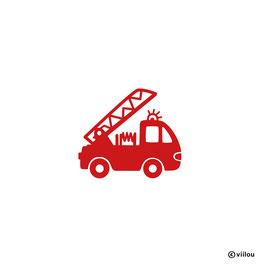Patches: Bügelbild Feuerwehrauto