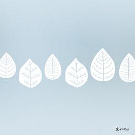Fenstersticker Blätter Bordüre