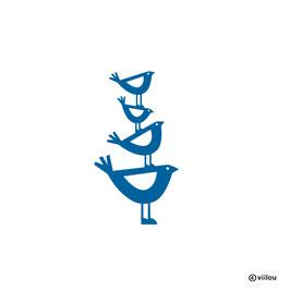 Wandsticker Vogel auf Vogel