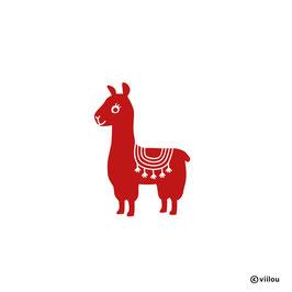 Wandsticker Lama