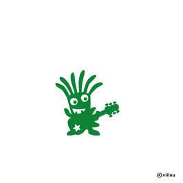 Patches: Bügelbild Monster mit Gitarre