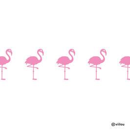 Wandsticker Bordüre Flamingos