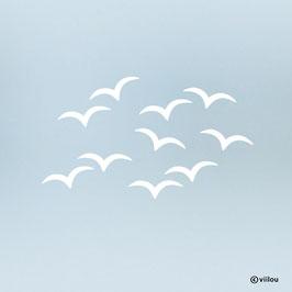 Fenstersticker Vögel Silhouetten