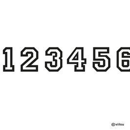 Patches Zahlen B: Bügelbild Zahl nach Wunsch