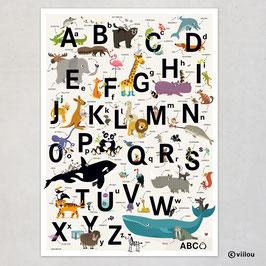 ABC Poster auf ENGLISCH