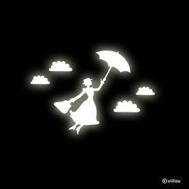 glow in the dark Wandtattoo - Wandsticker Mary Poppins