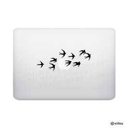 Macbook Sticker Schwalben