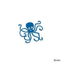 Patches: Oktopus Bügelbild