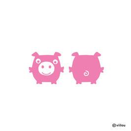 Patches: Bügelbild Schweinchen x2