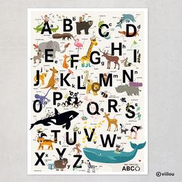 Das tierische ABC Poster