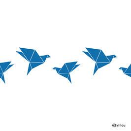 Wandsticker Bordüre Vögel Origami
