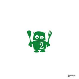Geburtstag Patches Zahlen: Bügelbild hungriges Monster mit Zahl
