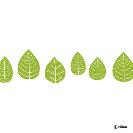 Wandsticker Blätter Bordüre