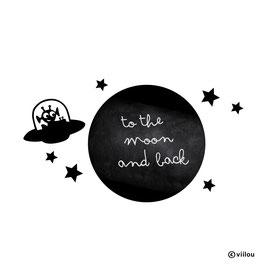 Kreidetafel Wandsticker Mond