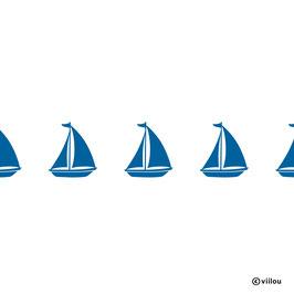 Wandsticker Bordüre Segelboote