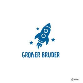 Patches Geschwister: große Geschwister Rakete Bügelbild
