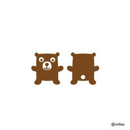 Patches: Bügelbild Bär x2