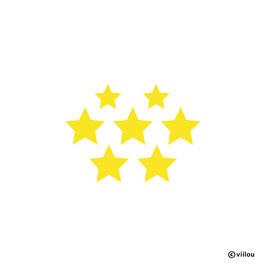 Patches: Sterne Bügelbilder