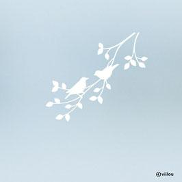 Fenstersticker Vogelpaar auf Ast