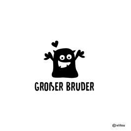 Patches Geschwister: große Geschwister Monster Bügelbild