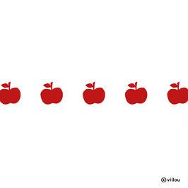 Wandsticker Äpfelchen Bordüre