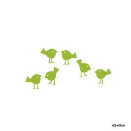 Wandsticker Vögelchen Spatzen