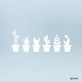 Fenstersticker Deko Pflanzen