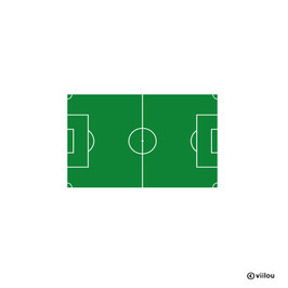 Patches: Fussballfeld Bügelbild