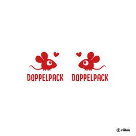 Patches Zwillinge: Sticker Mäuschen im Doppelpack