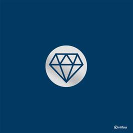 Reflektor Diamant Bügelbild