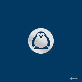 Reflektor Bügelbild Pinguin