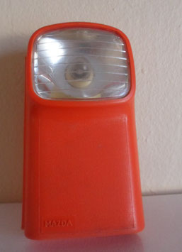 LAMPE DE POCHE MAZDA ORANGE DESIGN GUY BOUCHER