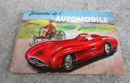 """""""HISTOIRE DE  L'AUTOMOBILE""""  . LE VRAI ROMAN DE L'AUTOMOBILE. LA PREMIERE VOITURE DATE DE 1770. EDITION MINERVA BRUXELLES."""