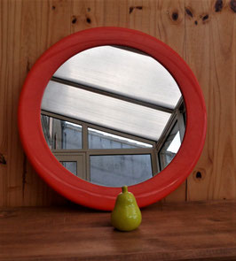MIROIR  ROND SYLA ORANGE