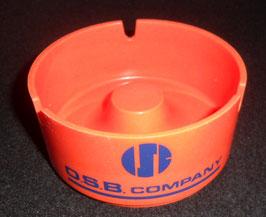 CENDRIER OSB COMPANY  EN PLASTIQUE ORANGE/BLEU