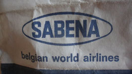 SABENA ANCIENNE COMPANIE D AVIATION BELGE SAC EN PAPIER PLASTIFIE  A L INTERIEUR.